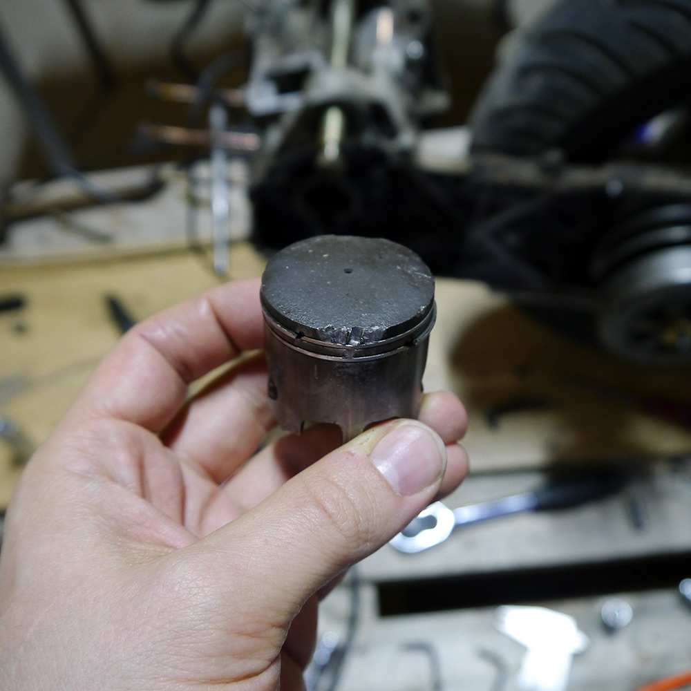 Kolbenfresser beim Roller - so sieht es aus.