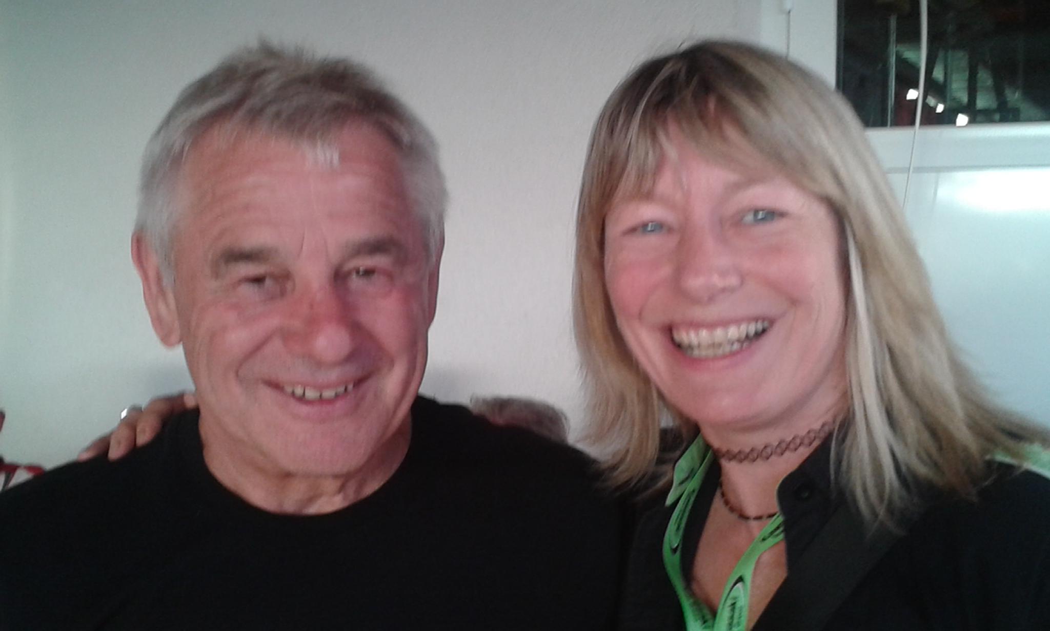 Chrissi und Toni Mang - Sachsenring 2104 - bald mehr im Motorrad Blog!