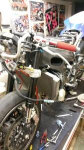 Mein Bike nackt schräg von vorn