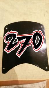 Beklebearbeiten an meinem Racing-Bike - die 270 darf nicht fehlen!