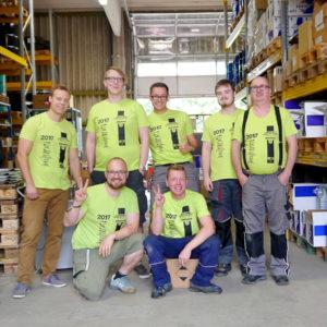 Wir haben es geschafft! Teamfoto Motorrad-Ersatzeile24.de!