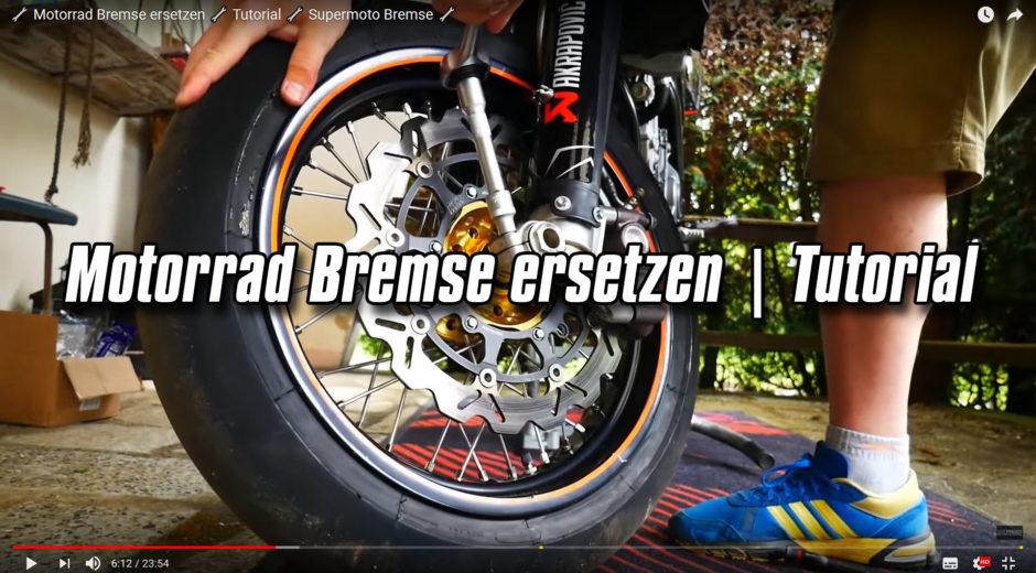 Motorrad Bremse ersetzen - Tutorial - Supermoto Bremse