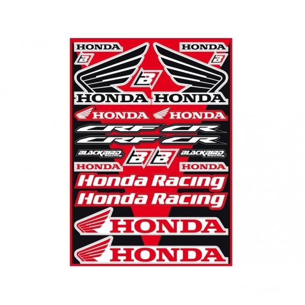 Aufkleber Satz Universal Blackbird Racing Honda
