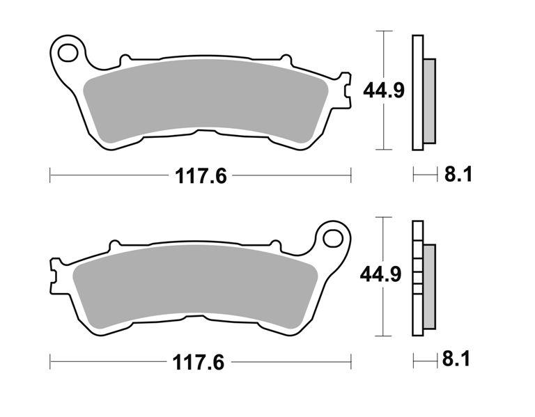 vorne Honda FES 125 A S-Wing ABS 2007-2013 Bj Bremsbelag BRAKING 910SM1
