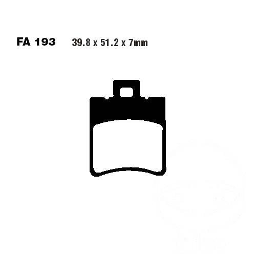 96 vorne Bremsbeläge EBC Italjet Formula 50 AC Bj