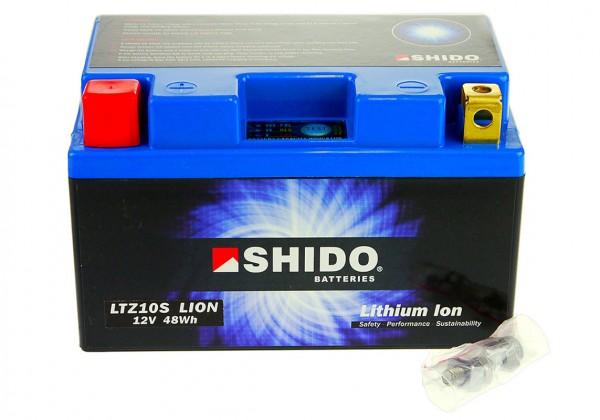 lithium ionen batterie ytz10s 12 volt shido motorrad. Black Bedroom Furniture Sets. Home Design Ideas