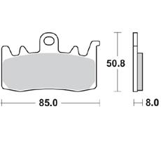 2016-2017 Bremsbelag BRAKING 960CM55 Bj vorne BMW R 1200 GS LC Gussrad ABS