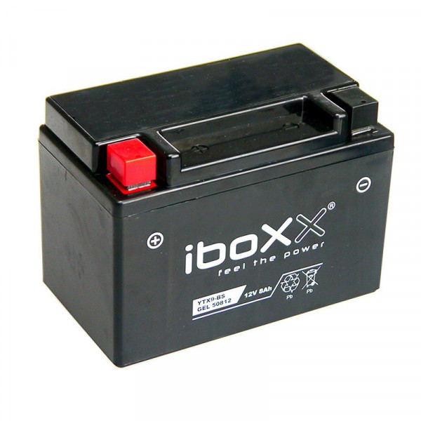 iboxx motorrad gel batterie ytx9 bs 12 volt 8 ah. Black Bedroom Furniture Sets. Home Design Ideas