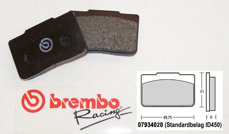 brembo racing bremsbel ge hinten bremsbel ge bremsen. Black Bedroom Furniture Sets. Home Design Ideas