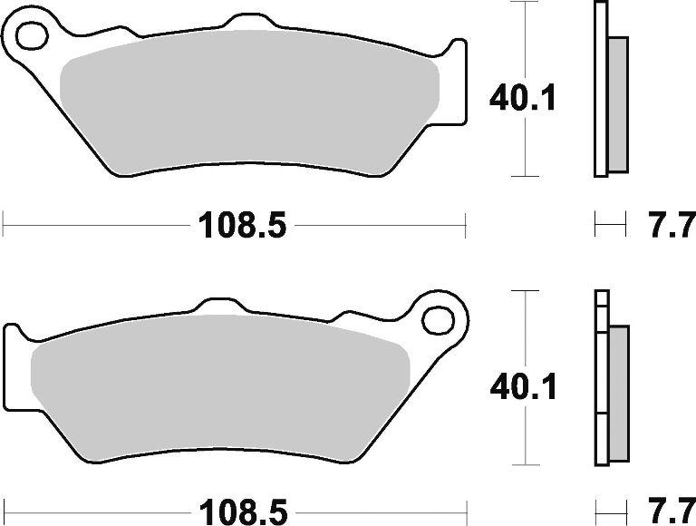 Brenta Bremsbeläge hinten BMW R 1200 GS LC R12W 2013-2016
