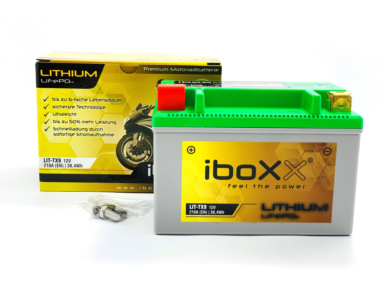 JMT Lithium Ionen Batterie YTX9-BS Kawasaki BJ 250 C Estrella